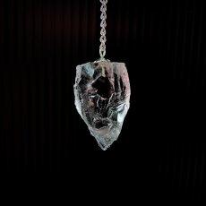 画像2: 【限定数のみ】レア♪ヒマラヤンクリスタル 大粒ラフロック シルバーペンデュラム (2)