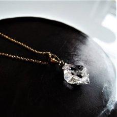 画像3: 【残り3・WEB限定・訳あり】AAA大粒のきらめき! NYハーキマーダイヤモンド クォーツ 結晶ネックレス 約40cm 14kgfネックレス (3)