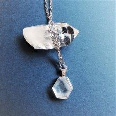 画像5: 【1点もの・A】エンジェルラダークォーツ 原石スライス サージカルステンレスシルバー45+5cmネックレス (5)