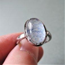 画像4: 【フリーサイズ・D】Silver925 デュモルチェライトインクォーツ オーバルカボション リング(指輪) (4)