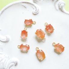 画像4: 【残り1】まるでオレンジジュレ♪ ラビットファー オレンジルチル 宝石ジェム 14KGFネックレス40cm (4)