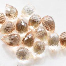 画像3: 【限定数のみ】超希少! ロゼシャンパンカラー 宝石質インペリアルトパーズ 大粒ドロップ 14KGF50cmネックレス (3)