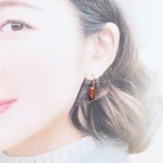 画像7: 【限定数・イヤリング変更可】希少石!ヌーディーオレンジ チベットアンデシン 14kgfピアス  (7)