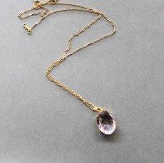 画像7:  【1点もの・Cオーバル】超大粒 宝石用ルース ピンクアメジスト 14KGF50cmネックレス (7)