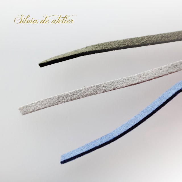 画像1: <COLOR選択♪カーキ・グレー・ミストブルー>合皮スエード 約90cmカット コード (1)