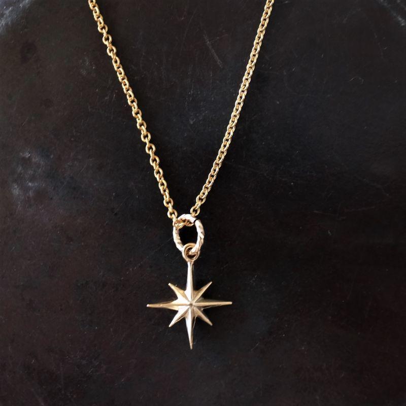 画像1: 冬の一等星 一粒 14kgfネックレス40cm  (1)